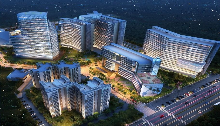 This Nx One Corporate Suites Commercial Complex Is Constructing By Famous Builder Dah Group At Noida Extension Commercial Complex Suites Noida