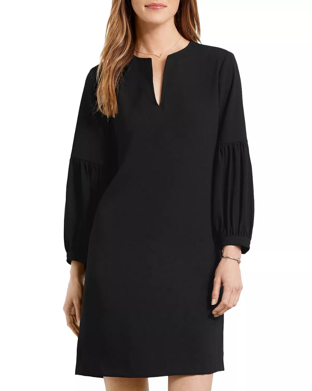 Karen Kane Bishop Sleeve Dress Women Bloomingdale S Dresses Black Funeral Dress Dresses With Sleeves [ 1250 x 1000 Pixel ]