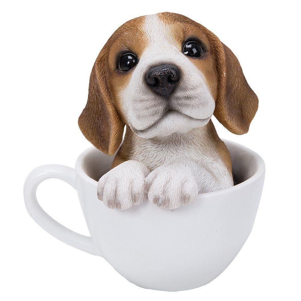 Adorable Teacup Pet Pals Beagle Puppy Collectible Figurine 5 75