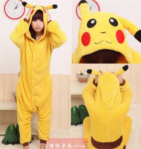 ad5dd4eed7e Cute Cartoon Unisex Adult Onesie Pajamas Anime Dress Sleepwear Cosplay  Pikachu