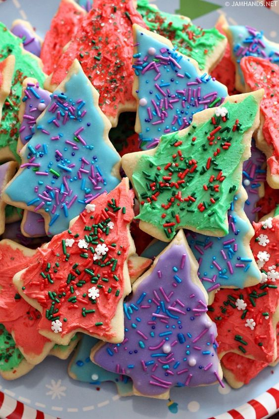 Soft And Thick Cut Out Sugar Cookies In 2019 Cookie Recipes