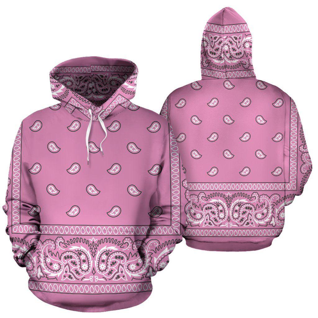 bb242d9454 Pink Bandana Print Pullover Hoodie in 2019   Bandana Fever's ...