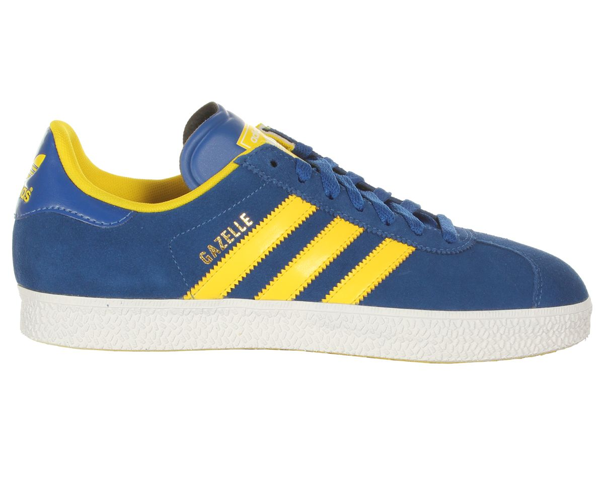 adidas originals trainers blue and yellow
