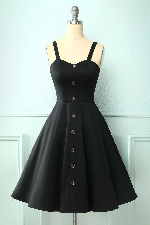 Vintage Black Dress With Button In 2020 Vintage Black Dress Black Dress Cute Black Dress [ 1500 x 1000 Pixel ]