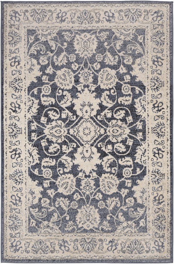 Geoloom Cyrah 23701 Rugs Rugs Direct Light Grey Area Rug Traditional Area Rugs Area Rugs