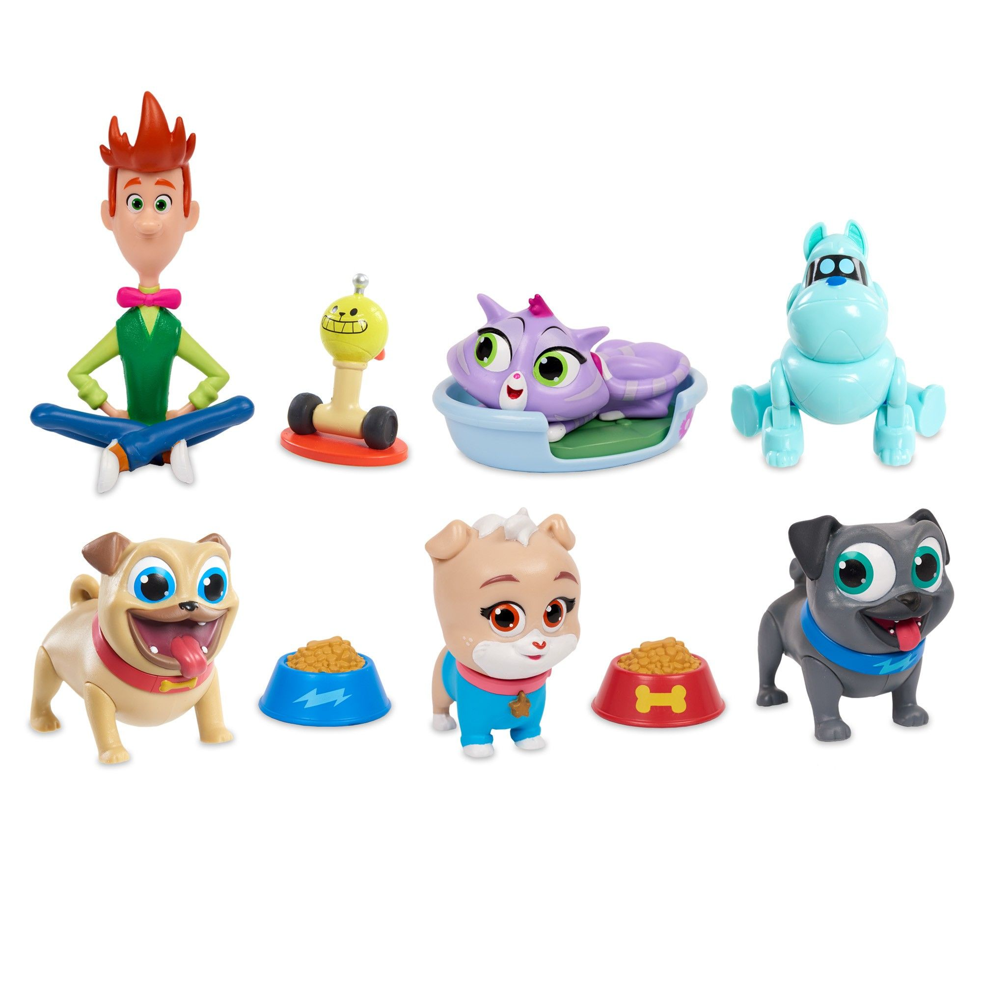 Puppy Dog Pals Deluxe Friend Set 10pc Dogs Puppies Disney