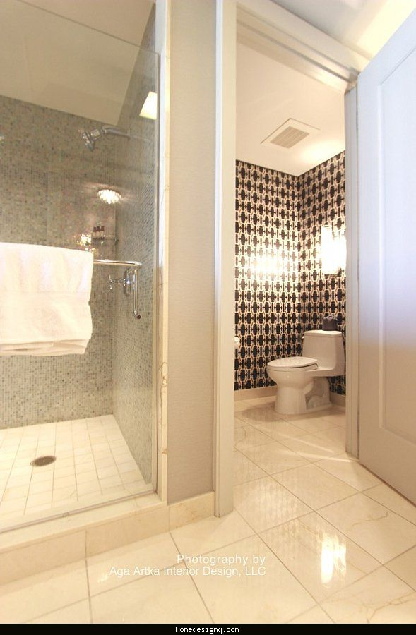 Bathroom design with separate toilet room - //homedesignq.com ... on