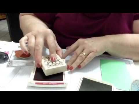 Embossing With Classic Stampin Up Ink Pads/Re-Inking Ink Pa - YouTube