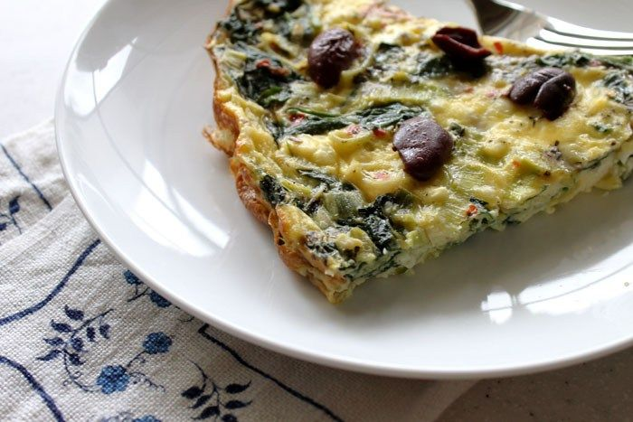 Greek-Inspired Crustless Quiche is a delicious, balanced breakfast that reheats beautifully. It is perfect for a special occasion or weekday a breakfast.