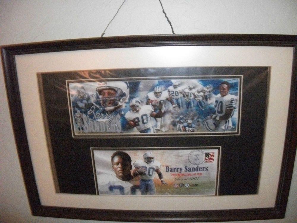 Rare NFL BARRY SANDERS 2004 HOF Induction~PhotoRamics Action Photograph