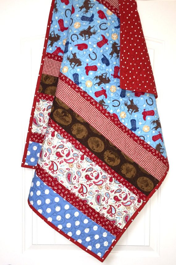 Western Baby Quilt Cowboy Baby Quilt boy by ChristineJDesigns ... : pinterest baby boy quilts - Adamdwight.com