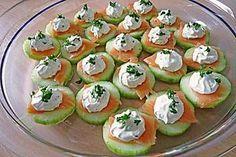 Gurken-Lachs-Häppchen #appetizersforparty