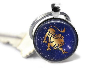 Leo Key Chain, Zodiac Jewelry, Leo Accessories, Leo Jewelry, Astrology, Astrological Sign, Zodiac Accessories, Zodiac Key Chain
