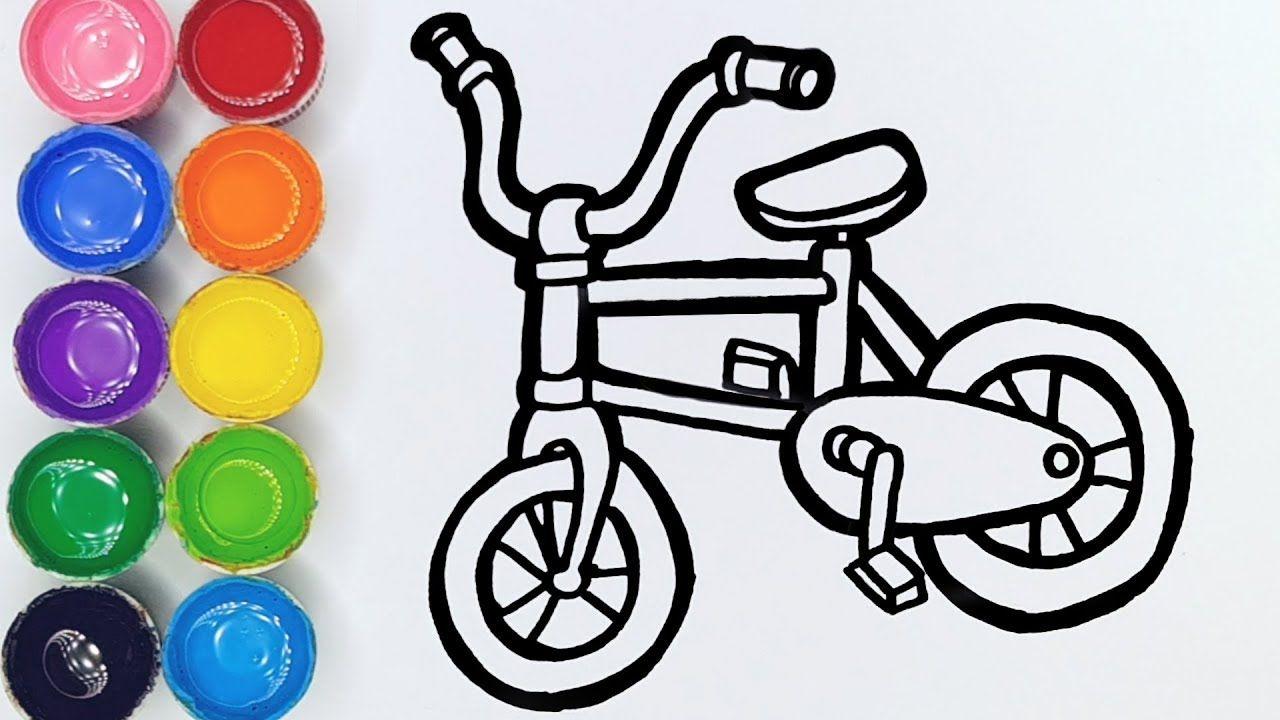 Cara Menggambar Dan Mewarnai Mainan Sepeda
