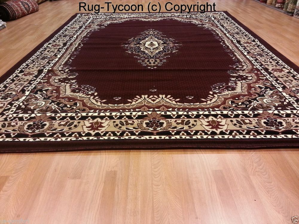 8x10 Traditional Medallion Plush Burgundy Red Rug Free Ship E518 Rugty Traditionalpersianoriental