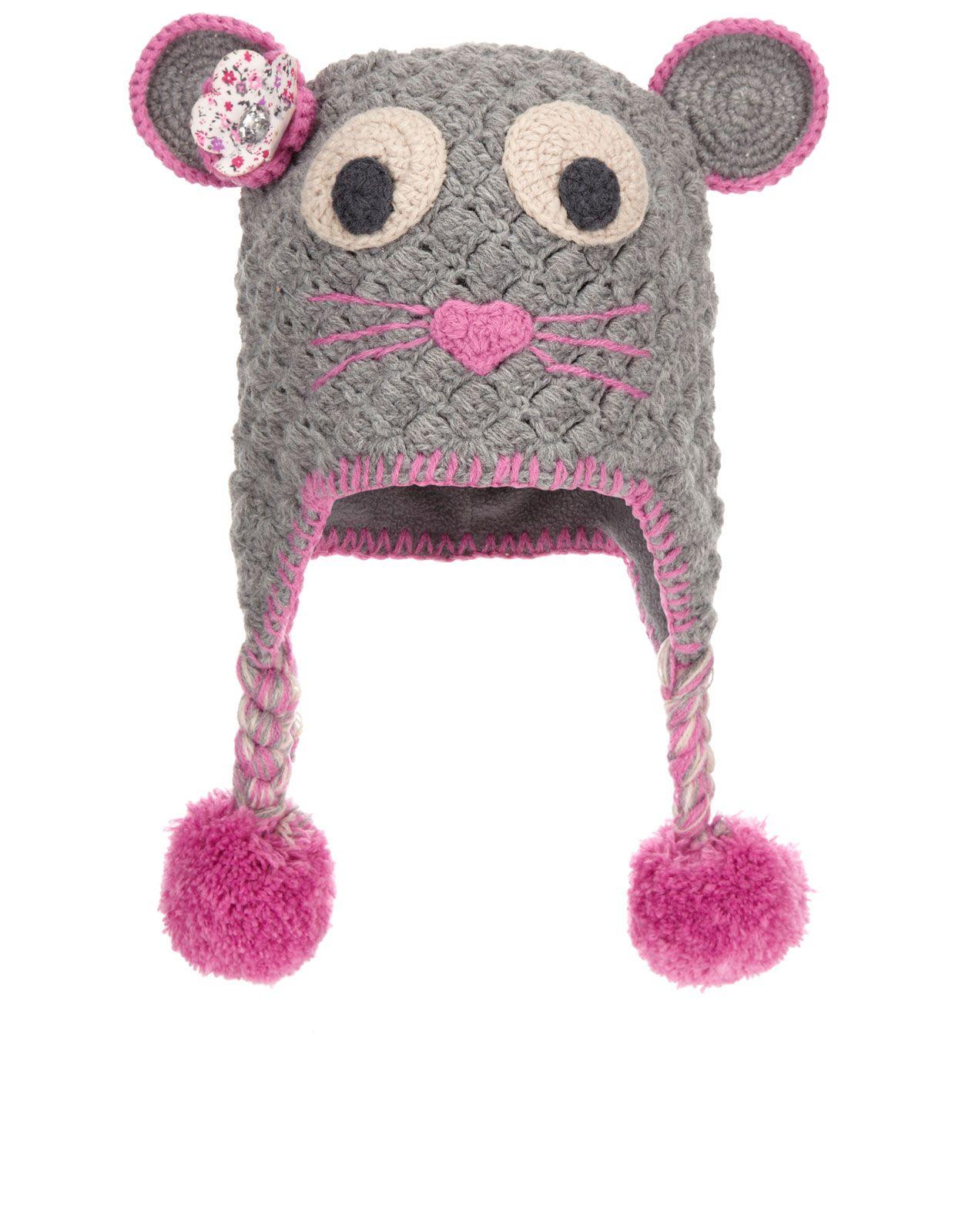 Crochet Mouse Chullo Hat