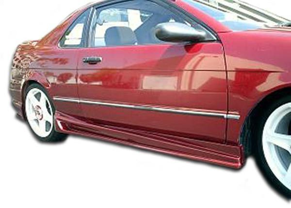 1992 1995 Toyota Paseo Duraflex Bomber Side Skirts Rocker Panels 2 Piece