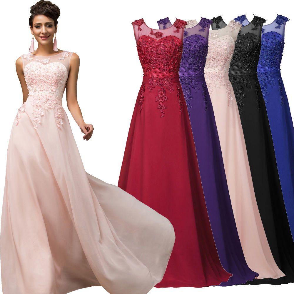 Dress for wedding evening party  Chiffon Women Long Wedding Evening Dresses Party Ball Gown Prom