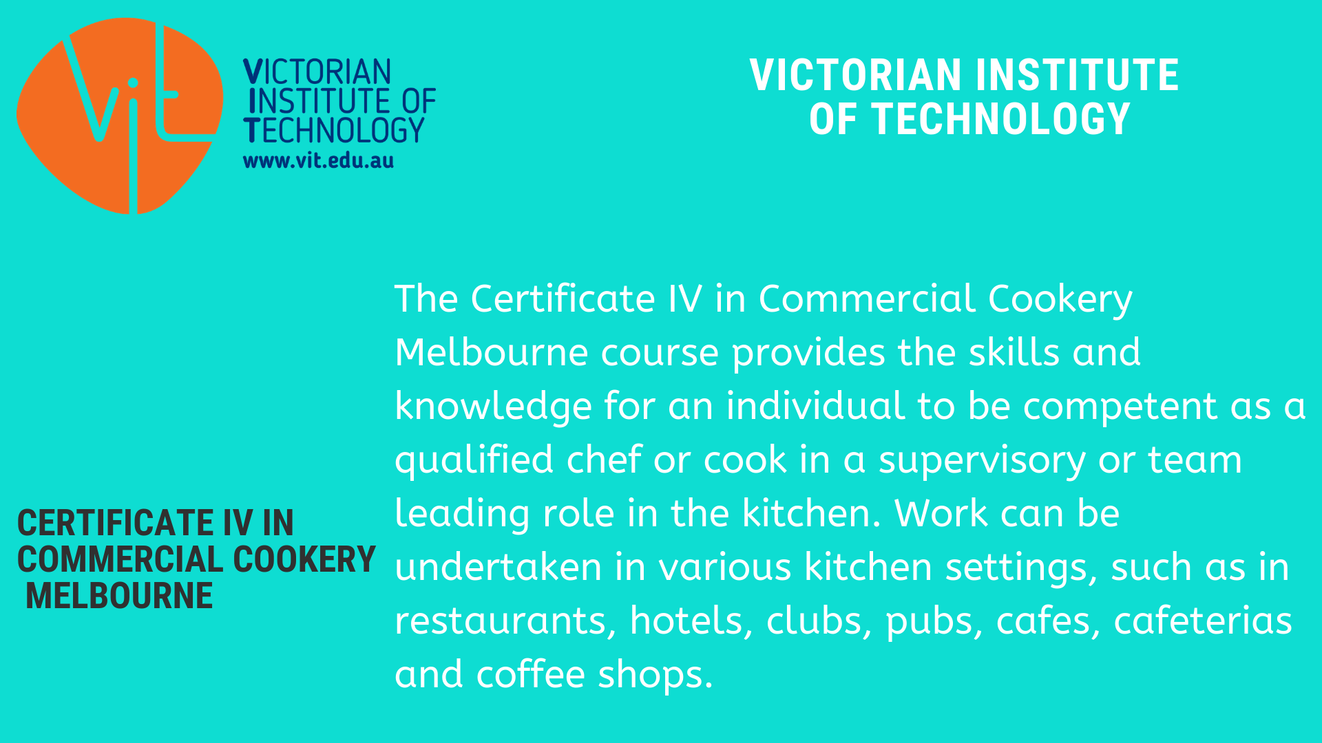 Certificate IV in Commercial Cookery (With images