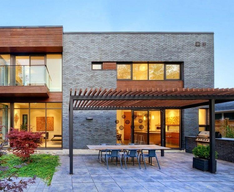 protection solaire 55 id es pour la terrasse ext rieur pergola en bois coin repas et pergola. Black Bedroom Furniture Sets. Home Design Ideas