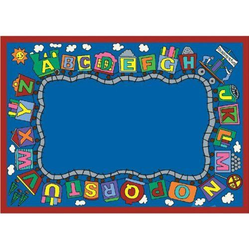 "Reading Train Classroom Rug - Rectangle - 10'9""W x 13'2""L by Joy Carpets. $599.75"