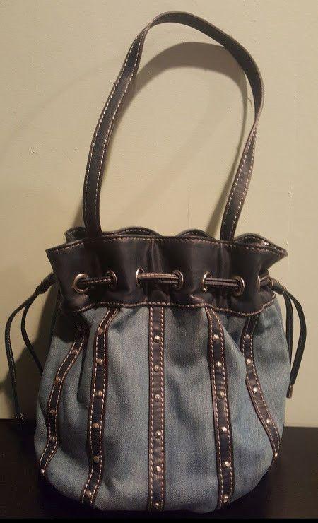 b1d1cf50b0d3 Women s Nine West Denim   Rivet Hobo Handbag Pre-Owned  NineWest   ShoulderBag  handbags  purse  shoppingonline  eBay