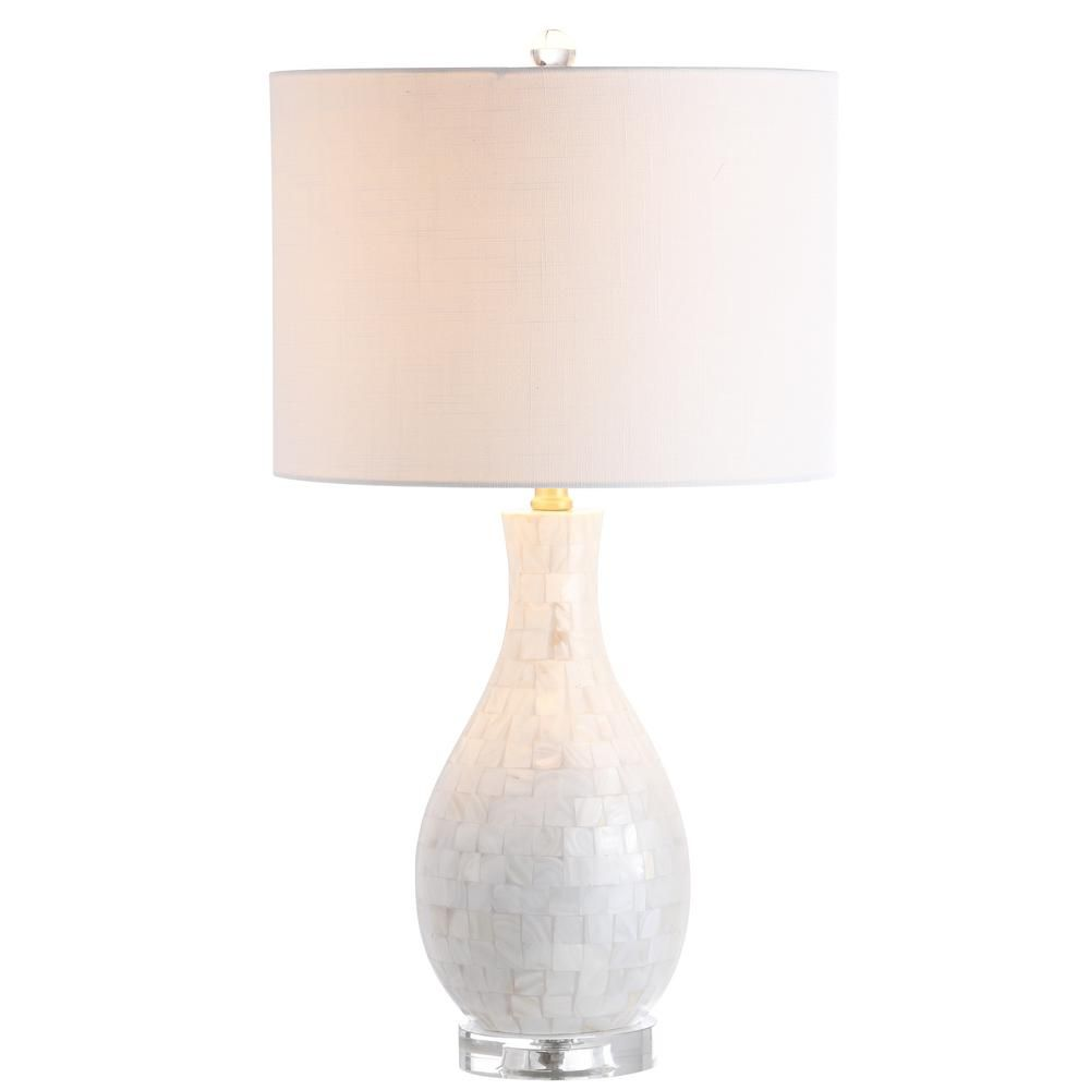 Josephine 26.5 in. White Seashell LED Table Lamp JYL1058A