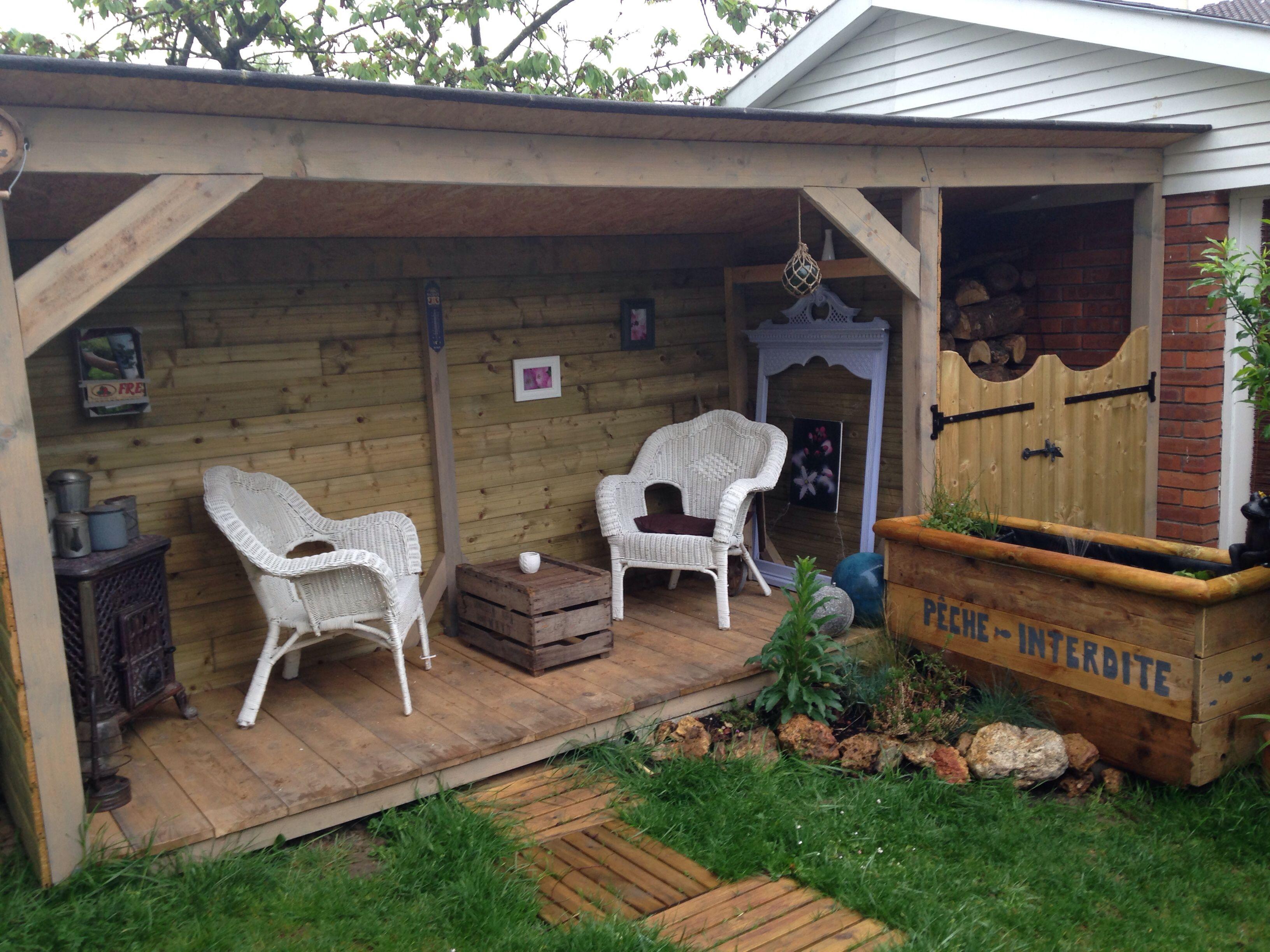 terrasse abrit e la belle saison et abris bois en hiver jardin pinterest. Black Bedroom Furniture Sets. Home Design Ideas