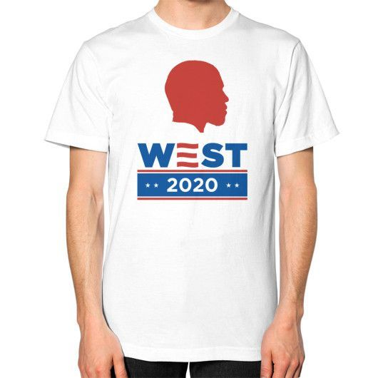 Kanye West 2020 Silhouette - Unisex T-Shirt (on man)