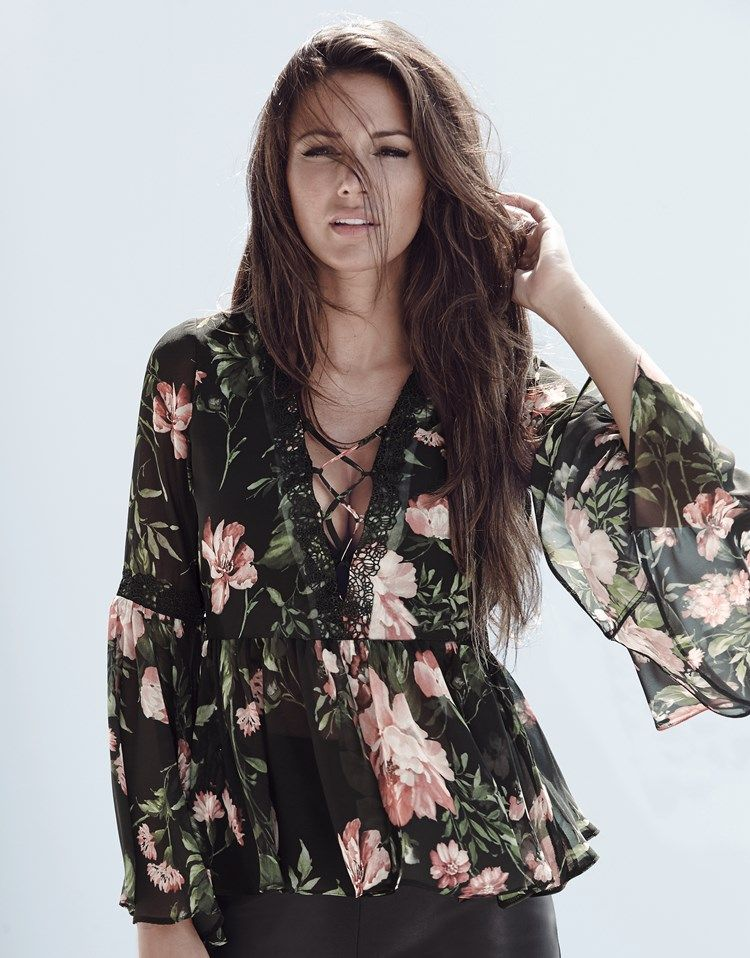 40 Lipsy Love Michelle Keegan Floral Boho Blouse | outfit | Pinterest