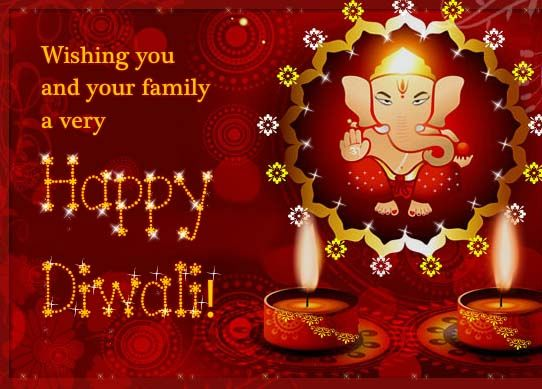 Shower choicest blessings of lord ganesha this diwali with this wish everyone happy diwali with this ecard free online blessings of lord ganesha ecards on diwali m4hsunfo