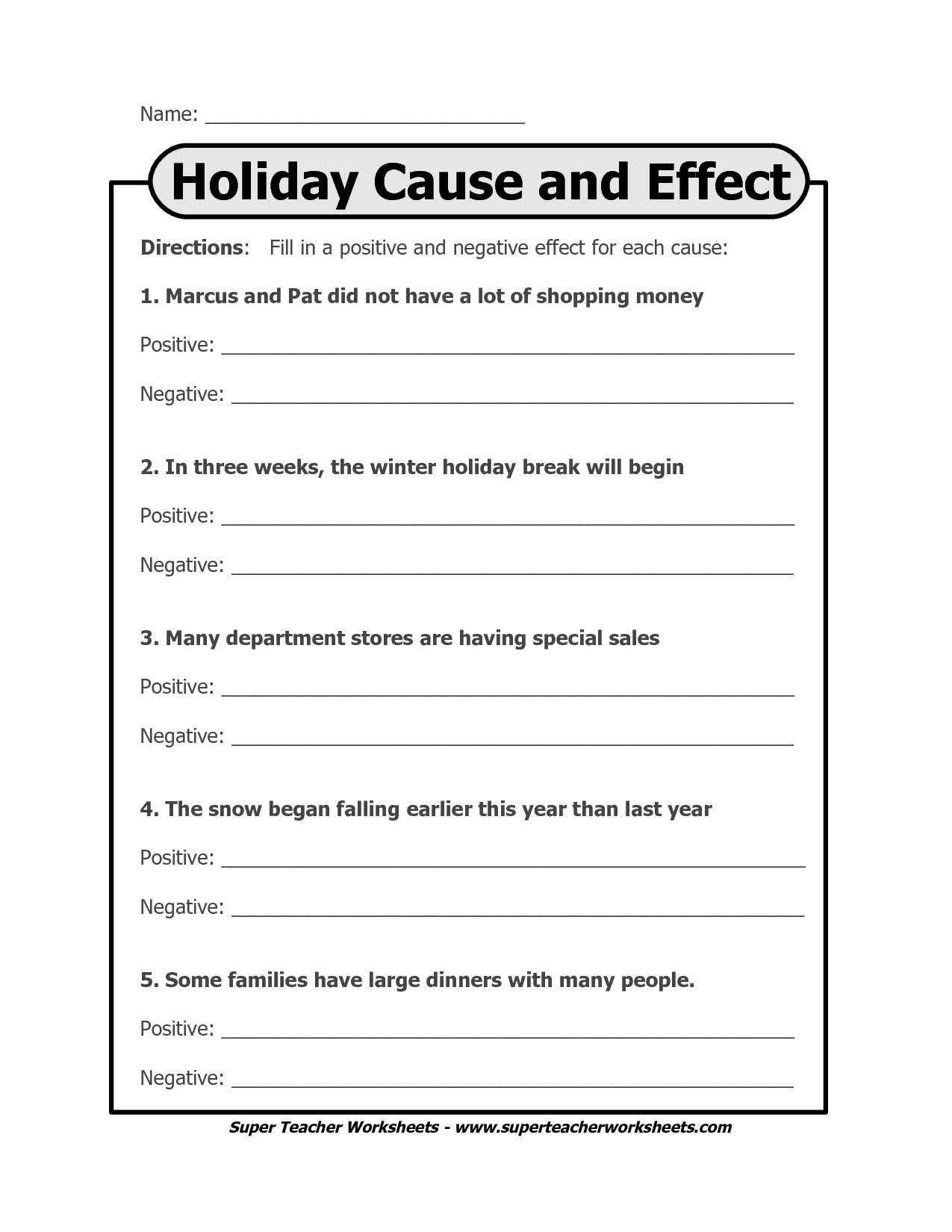 cause and effect worksheet Google Search Reading