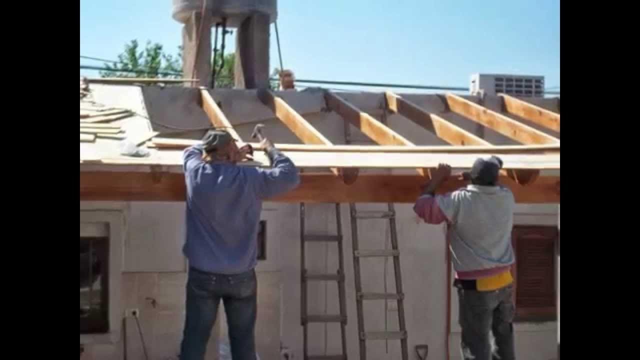 Como hacer un techo de madera tuclame la rioja argentina - Techo de madera ...