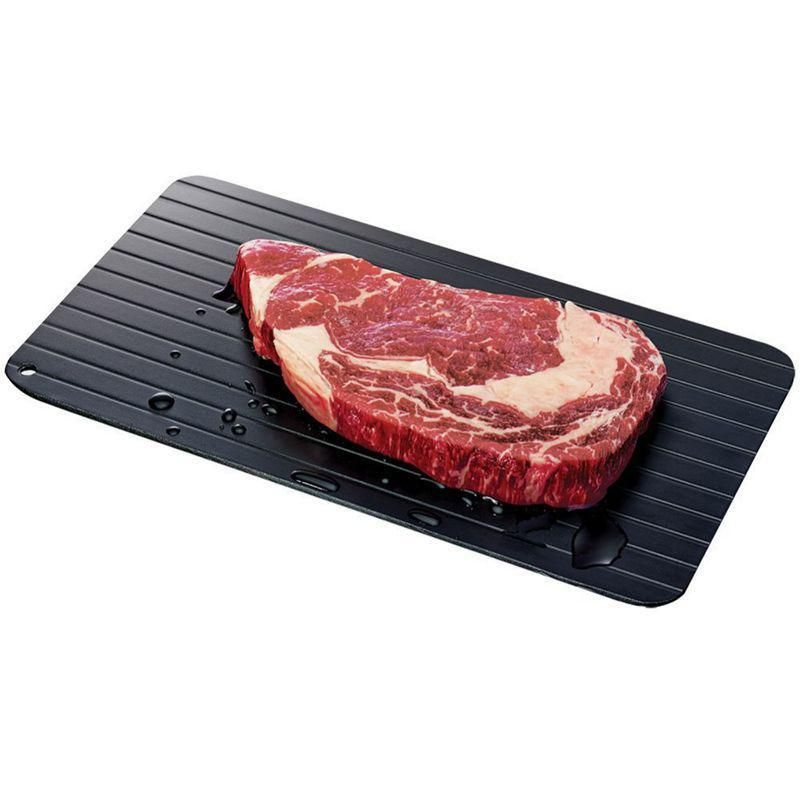 Fast defrosting tray the safest way to defrost meat or