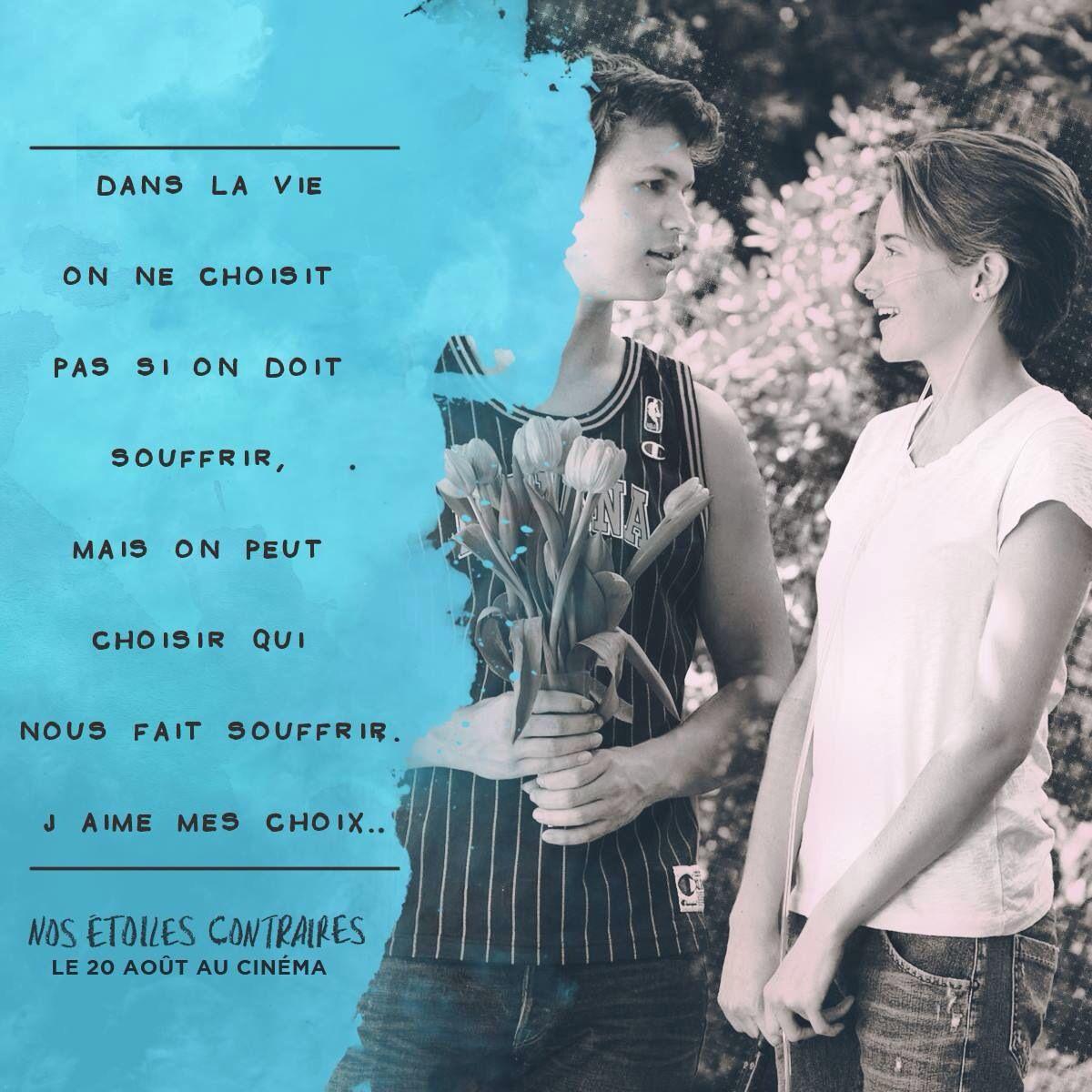 The fault in our stars - Nos étoiles contraires - Hazel Grace Lancaster - Augustus Waters - Ansel Elgort - Shailene Woodley <3 <3 love love