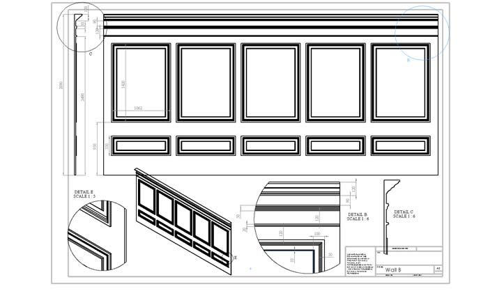 Personalised Architectural Panelling Drawings By The Wall Panelling Experts Wall Paneling Wall Panels Cool Walls