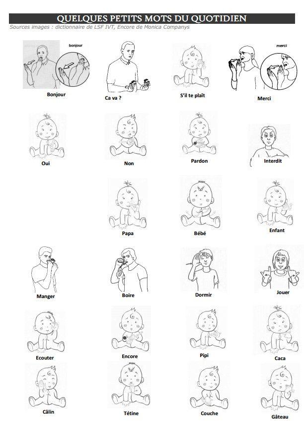 Super Afficher l'image d'origine | Lsf | Pinterest | Lsf, Les signes et  XS57