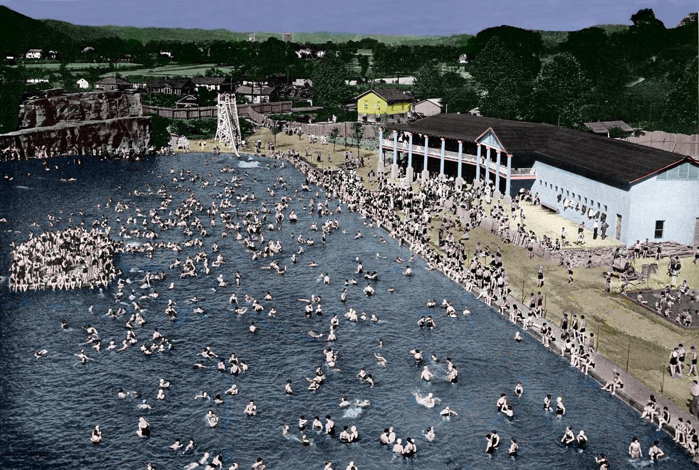 Rock Lake Pool in Spring Hill WV West virginia history