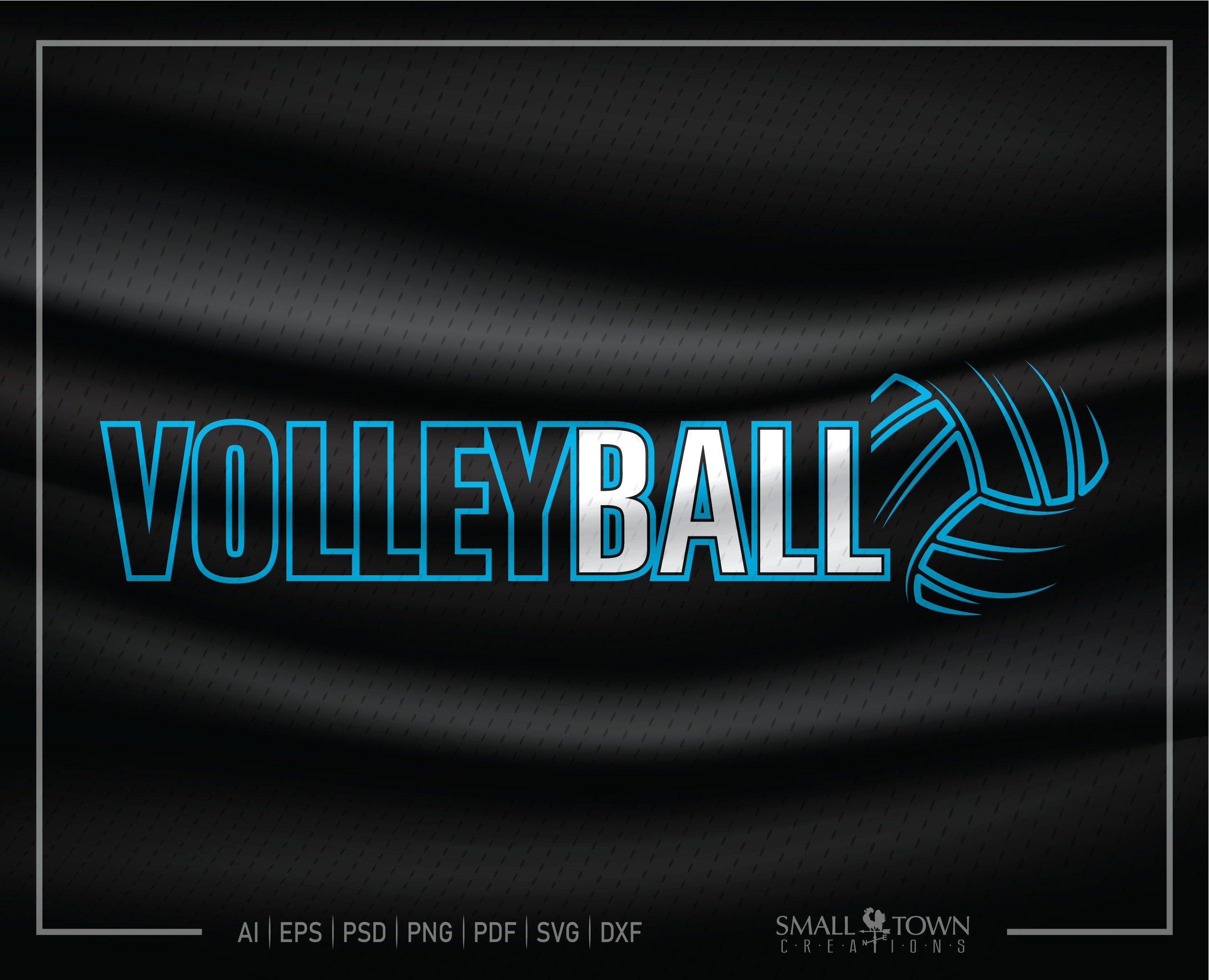 Volleyball Love Volleyball Team Logo Sports Ball Etsy In 2020 Volleyball How To Make Tshirts Team Logo
