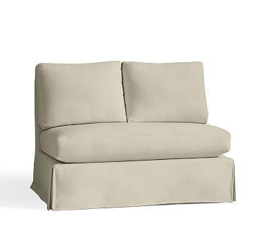 york roll arm slipcovered left arm loveseat with bench cushion down rh pinterest nz