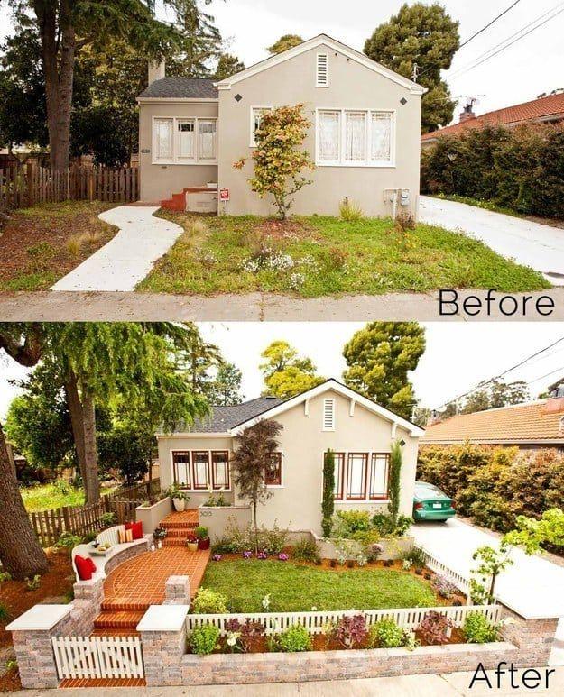 Añadir unos pocos pasos al caminito de tu jardín y encerrar un pequeño patio con una valla hace que un patio pequeño sea más interesante.