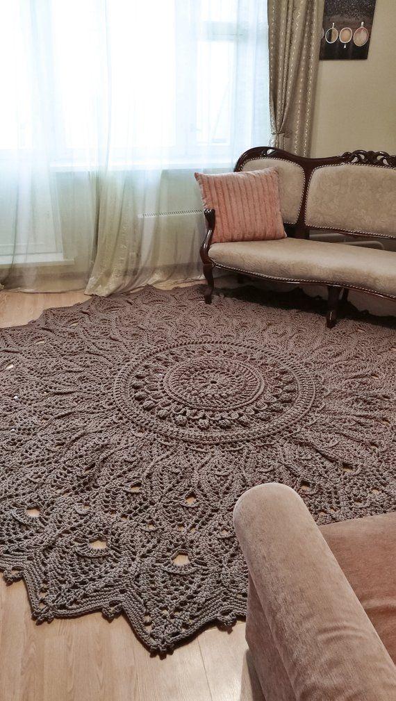 Best 12 Crochet Pattern Doilycarpet Foliagemc Video Image 3 Skillofking Com Crochet Rug Rug Yarn Doily Rug
