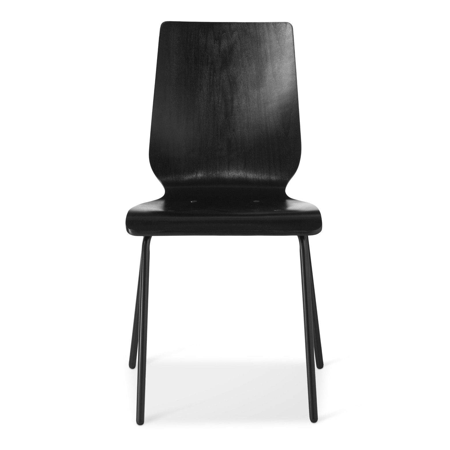 Bent Plywood Stacking Chair Black Room Essentials