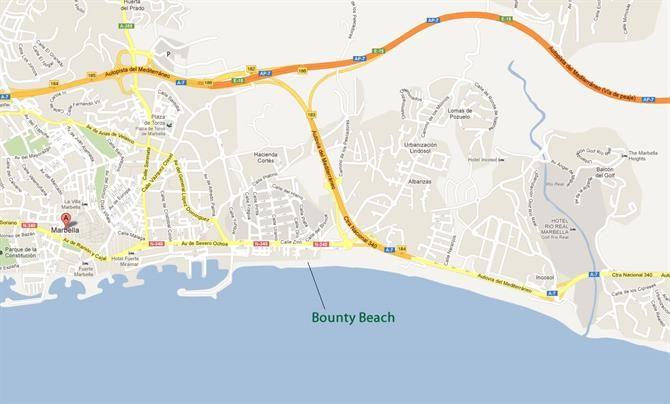Bounty Beach Marbella Map Marbella Die Schonsten Strande