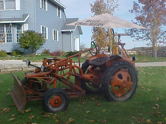 Allis Chalmers G 100% original, with front blade and