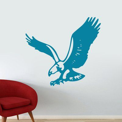 SweetumsWallDecals Flying Eagle Wall Decal Color: Teal