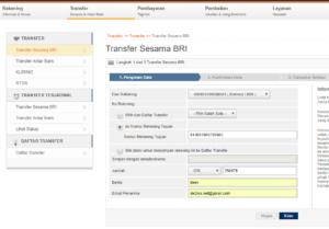Cara Transfer Di Internet Banking Bri Britama Perbankan Internet Belajar