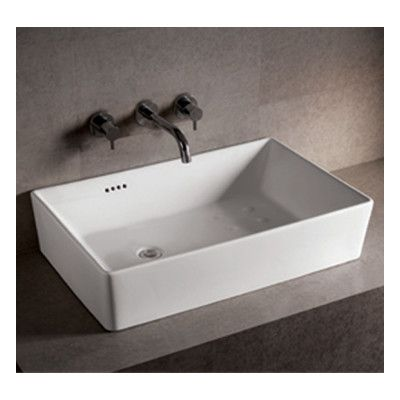 Whitehaus Collection Isabella Rectangular Bathroom Sink With Overflow And Offset Cen Rectangular Sink Bathroom Wall Mounted Bathroom Sinks Vessel Sink Bathroom