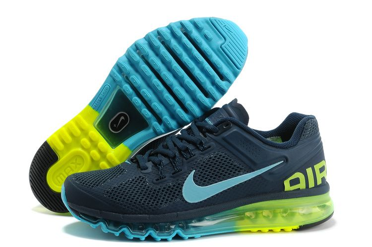 Armory Navy Gamma Blue Volt Nike Air Max 2013 Men's Running Shoes