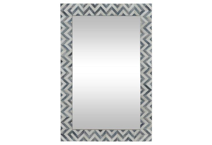 ELEVATORS, PAIR WITH CONSOLE - Clara Wall Mirror, Gray/Ivory